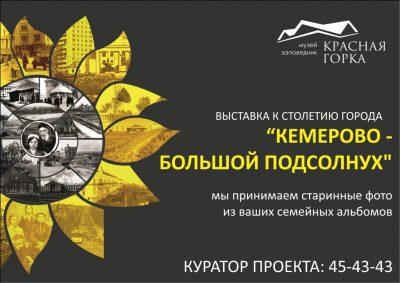 Фотовыставку к 100-летию Кемерова планируют открыть в июне