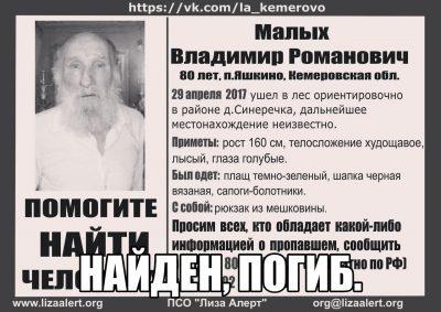 В Кузбассе пропавшего 80-летнего пенсионера нашли мёртвым в реке