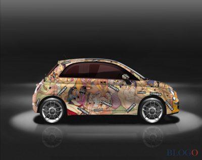 В Италии кузов Fiat 500 покрыли иллюстрациями из «Камасутры»