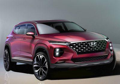 Компания Hyundai опубликовала изображения нового Santa Fe