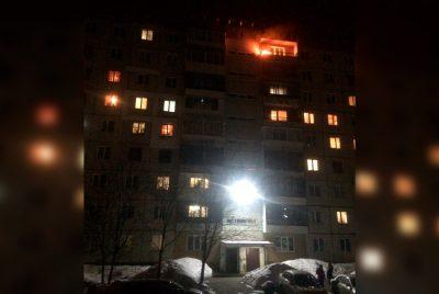 В Кемерове из-за фейерверка горела девятиэтажка