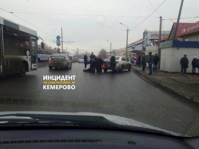 В Кемерове на Кузнецком сбили женщину