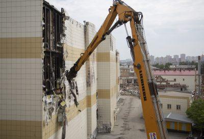 Подрядчик прокомментировал снос сгоревшего здания ТРК «Зимняя вишня»
