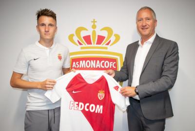 «Монако» официально представил футболиста из Кузбасса Александра Головина