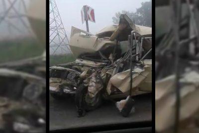 На кузбасской трассе столкнулись автобус и «легковушка», два человека погибли