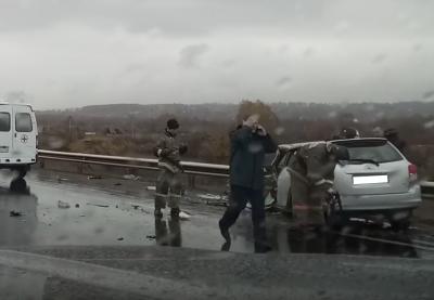 В МВД рассказали подробности ДТП с пятью пострадавшими на трассе в Кузбассе