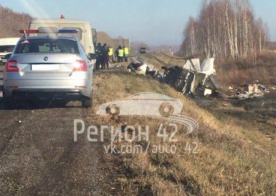 Видео: в Кузбассе после тройного ДТП авто разлетелись на части, погибли трое