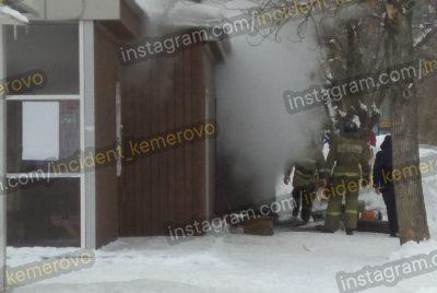 В Кемерове огонь едва не уничтожил остановку