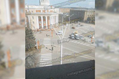 Фото: кемеровскую мэрию эвакуировали из-за угрозы минирования