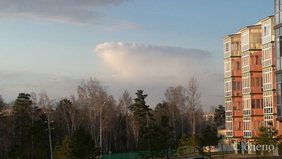 Фото: необычное природное явление в небе над Кемеровом