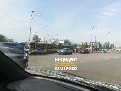 В Кемерове столкнулись два трамвая