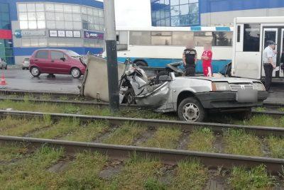Фото, видео: жёсткое ДТП в Прокопьевске