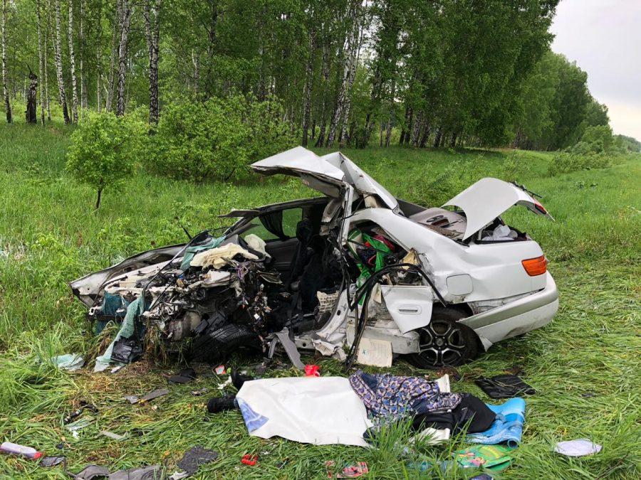 Двое взрослых и ребёнок погибли на трассе Юрга-Новосибирск