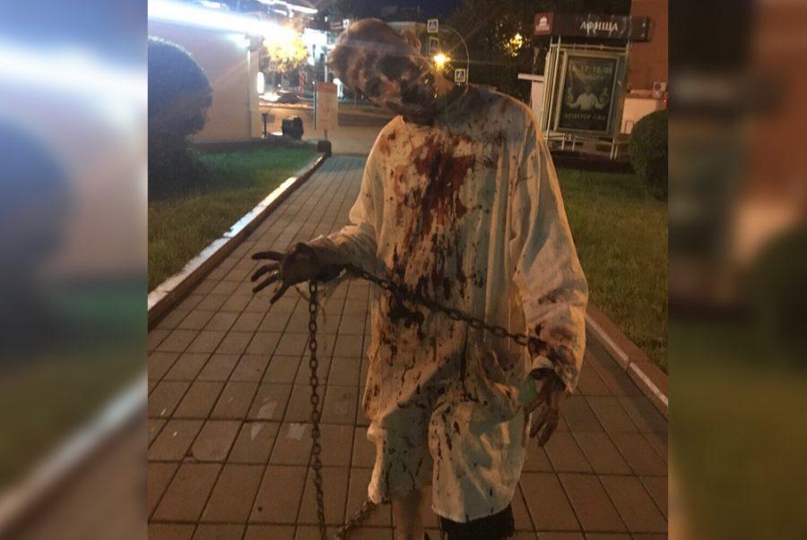 Фото: в центре Кемерова заметили зомби