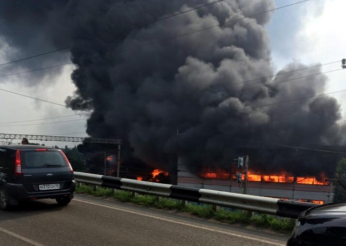 Названа причина серьёзного пожара на заводе по переработке шин в Кузбассе