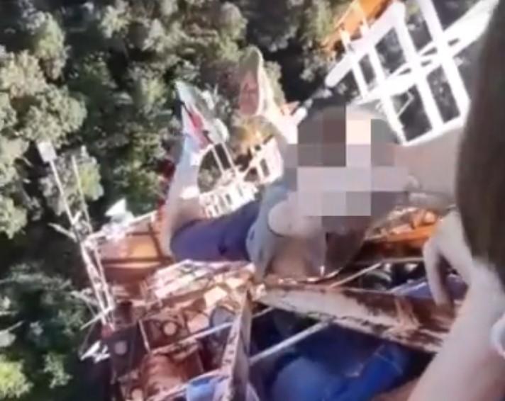 Видео: кемеровский руфер шокировал Сеть опасным поступком