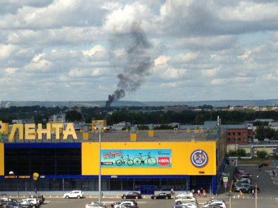 Фото: кемеровчан напугал столб чёрного дыма