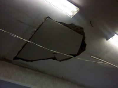 В одной из школ Кузбасса обвалился потолок