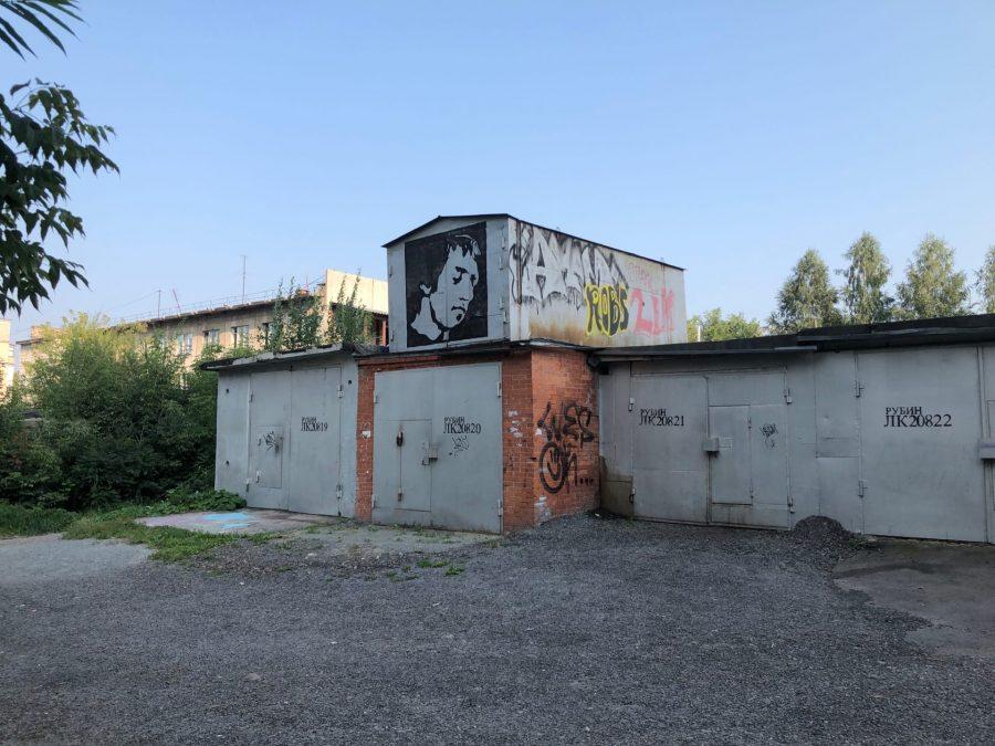 В Кемерове обнаружили граффити с портретом Высоцкого